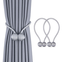 Curtain accessories magnetic iron ball curtains with curtains bundled decorative magnet rope buckle