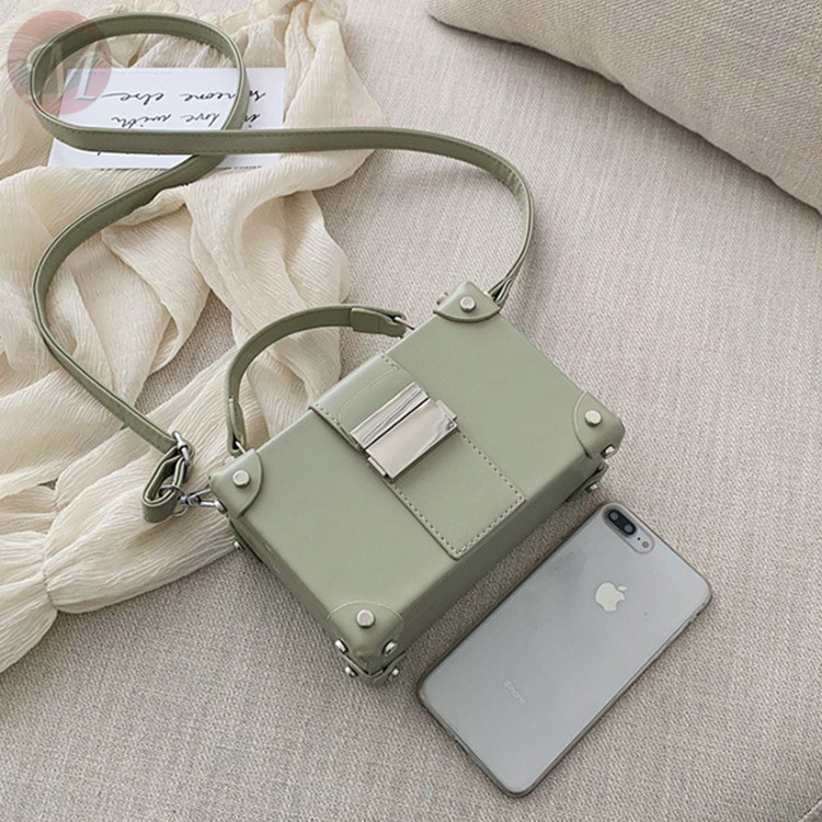 0270410 New fashion Female Bag Shoulder Messenger Portable Small Square Bag Box Bag Fashion Handbags Female