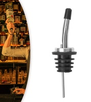 "Stainless Steel Pourers, Speed pourer, Liquor Bottle Pourers and Vinegar Tapered Stopper Spout for About 3/4"" Bottle Mouth"