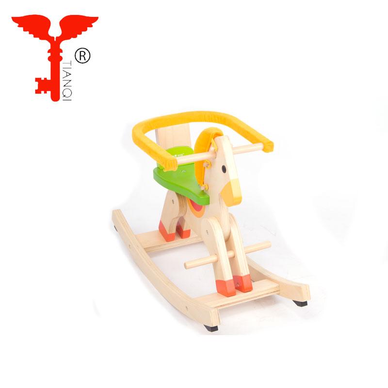 赤ちゃん馬木製子供のカルーセルおもちゃギフト木製のロッキングチェア子供乗馬木製ロッキング馬のおもちゃ