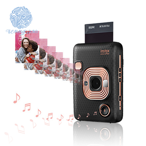 Fujifilm instax mini LiPlay hybrid instant camera with remote shooting elegant black