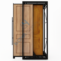 Factory Price Sliding Metal Wood Door Display Stand