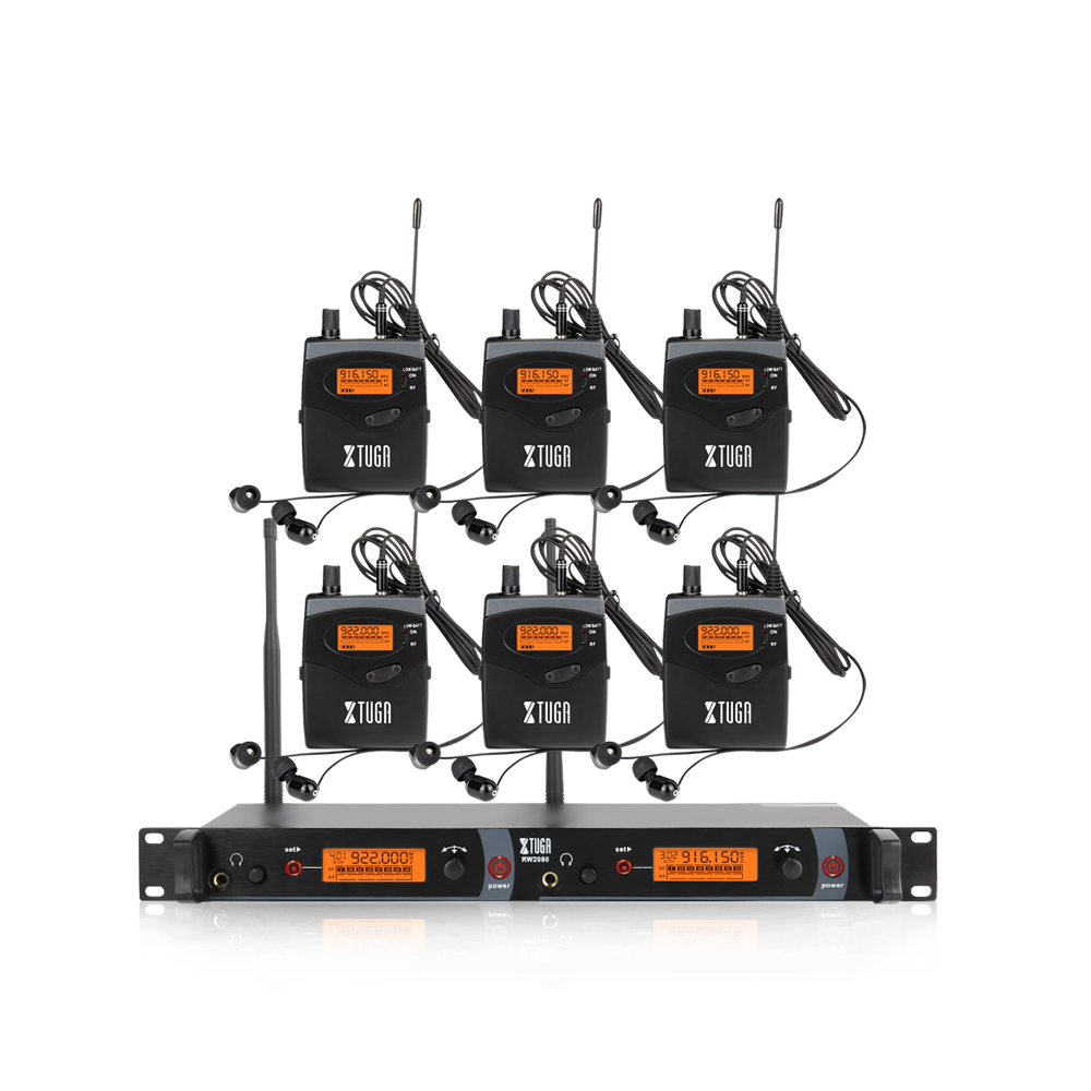 Professional UHF wireless monitoring system in ears