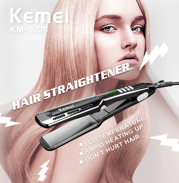 KM-1024 Kemei Professional brand hair care professional electric flat iron electric hair straightener