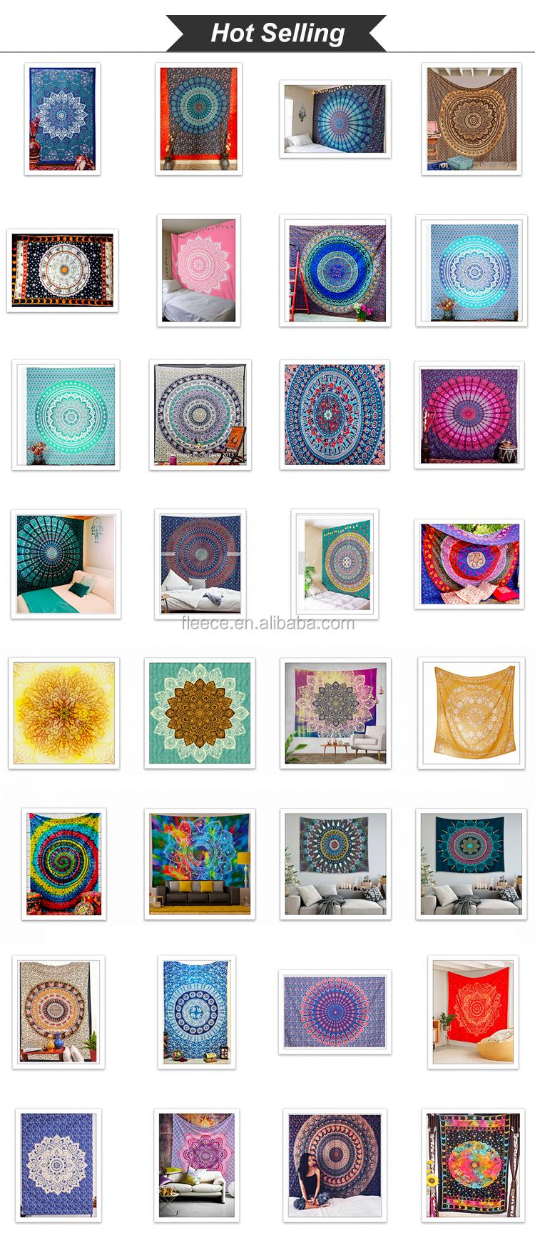 Atacado Custom Made Imprimir Mandala Tapeçaria de Parede
