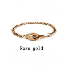 Браслет для пар наручники из нержавеющей стали, подарочные мужские цепочки на руку, стальные браслеты, женские и мужские ретро аксессуары(Китай)