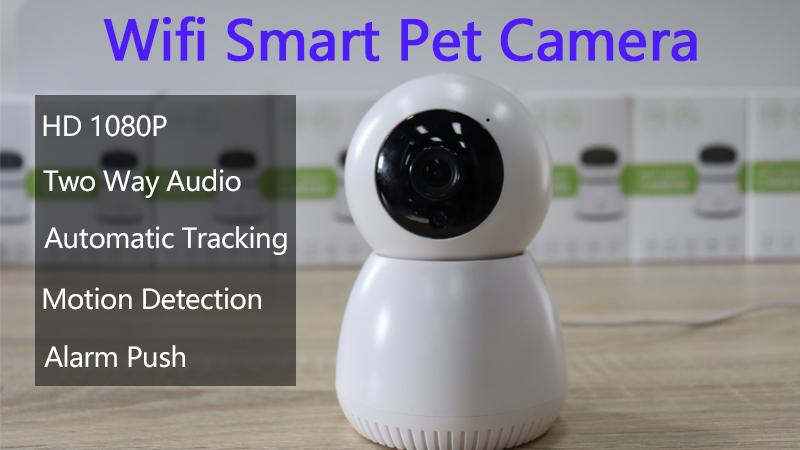 Thông Minh 360 Full View 1080P Video Pet Camera De Giám Sát Tự Động Theo Dõi Video Cameral Tuya Nhỏ Wifi IP Camera Baby Monitor