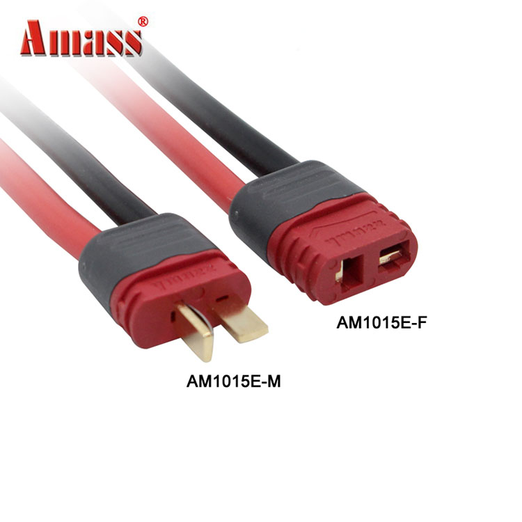 Amass XT30 Female Male Connectors XT90 XT60 With Sheath Housing Connector T Plug Cable 12AWG 150mm wire For RC Lipo Battery