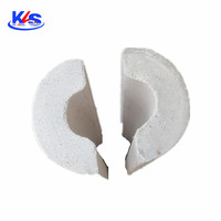 Perlite pipe used steam, petroleum, chemical, thermal and other pipe insulation, heat insulation and waterproof