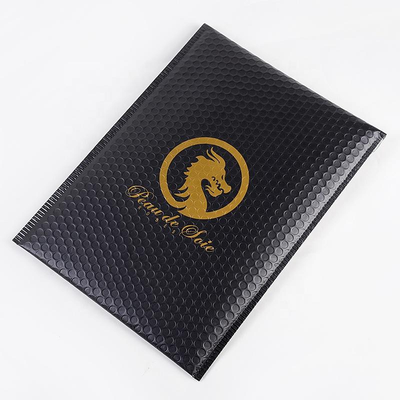 Custom print rose gold bubble envelope Metallic Bubble Envelope Express Mailer Bag
