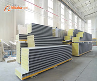 rock wool polyurethane sandwich panel board for prefabricated house