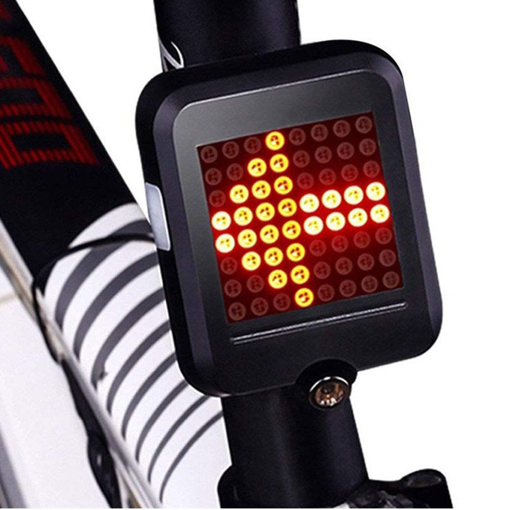 Bike Cycling Bicycle Laser Tail Turn Brake Signal Light Indicator Rechargeable