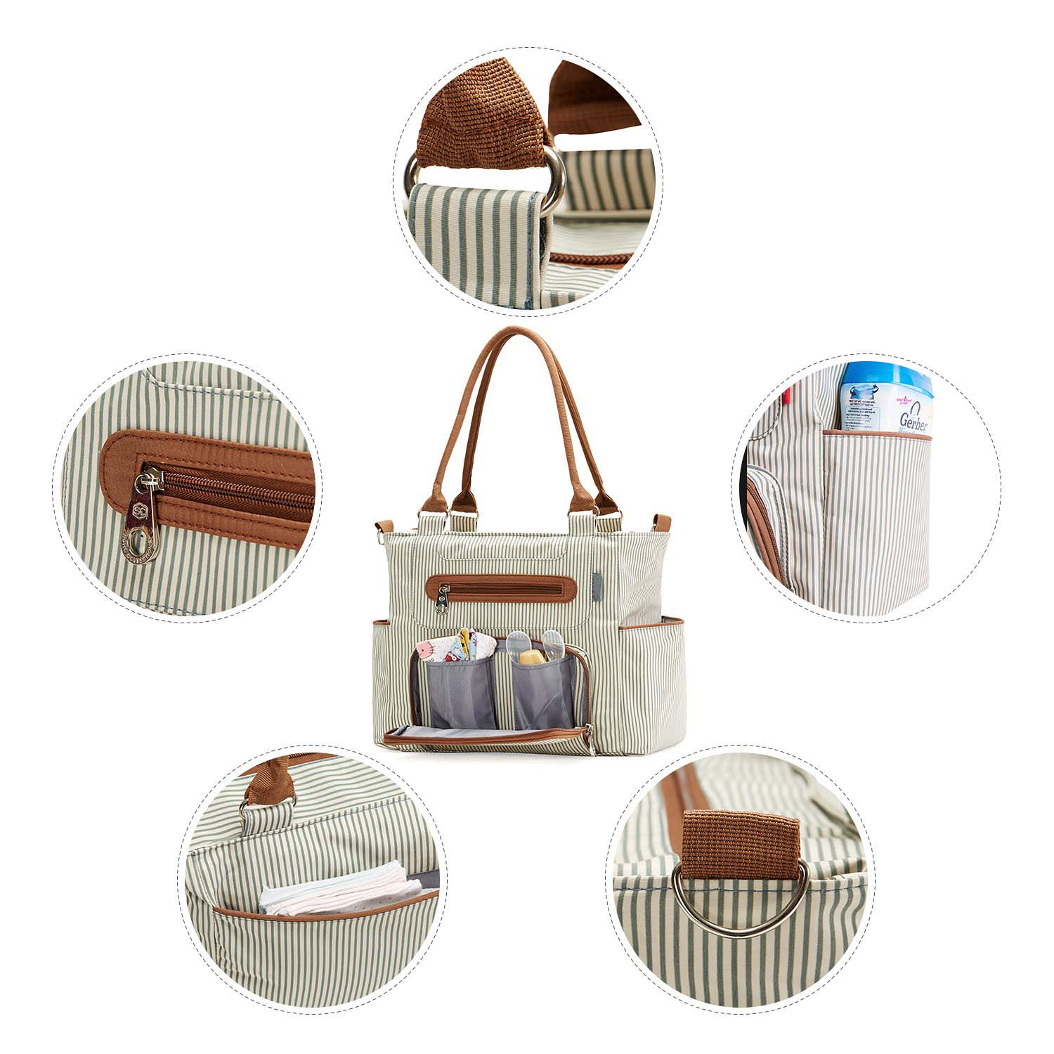 FREE SAMPLE Collection, Grand Central Station 7 pieces Diaper Bag set