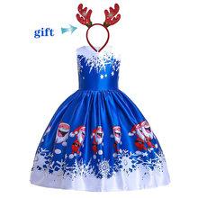 Модное платье принцессы на Рождество и Хэллоуин для девочек; Праздничное платье на день рождения, свадьбу, праздник; Вечернее платье; Фантаз...(Китай)