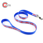 Custom Durable Nylon Material Ribbon Print Logo Dog Leash