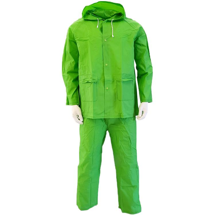 100% PVC vert imperméable et coupe-vent pluie veste de pluie