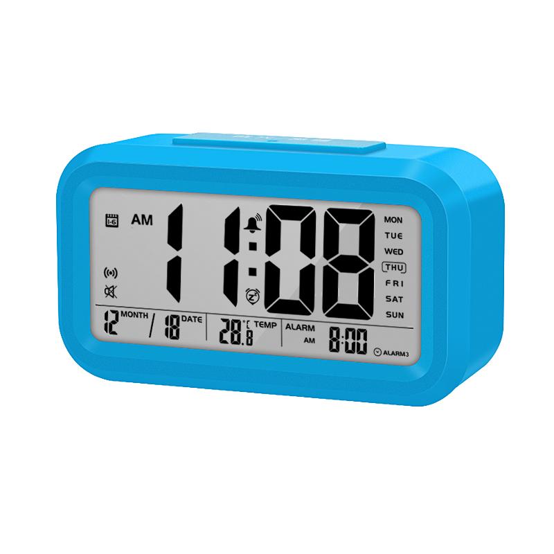 Venta caliente inteligente reloj digital de humedad y temperatura despertador reloj