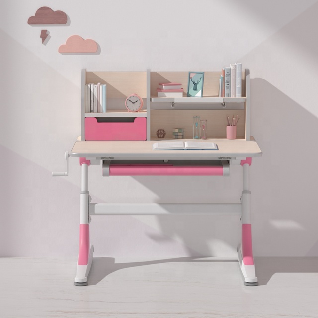 igrow ajustable  wooden kids study desk children study table and chair set