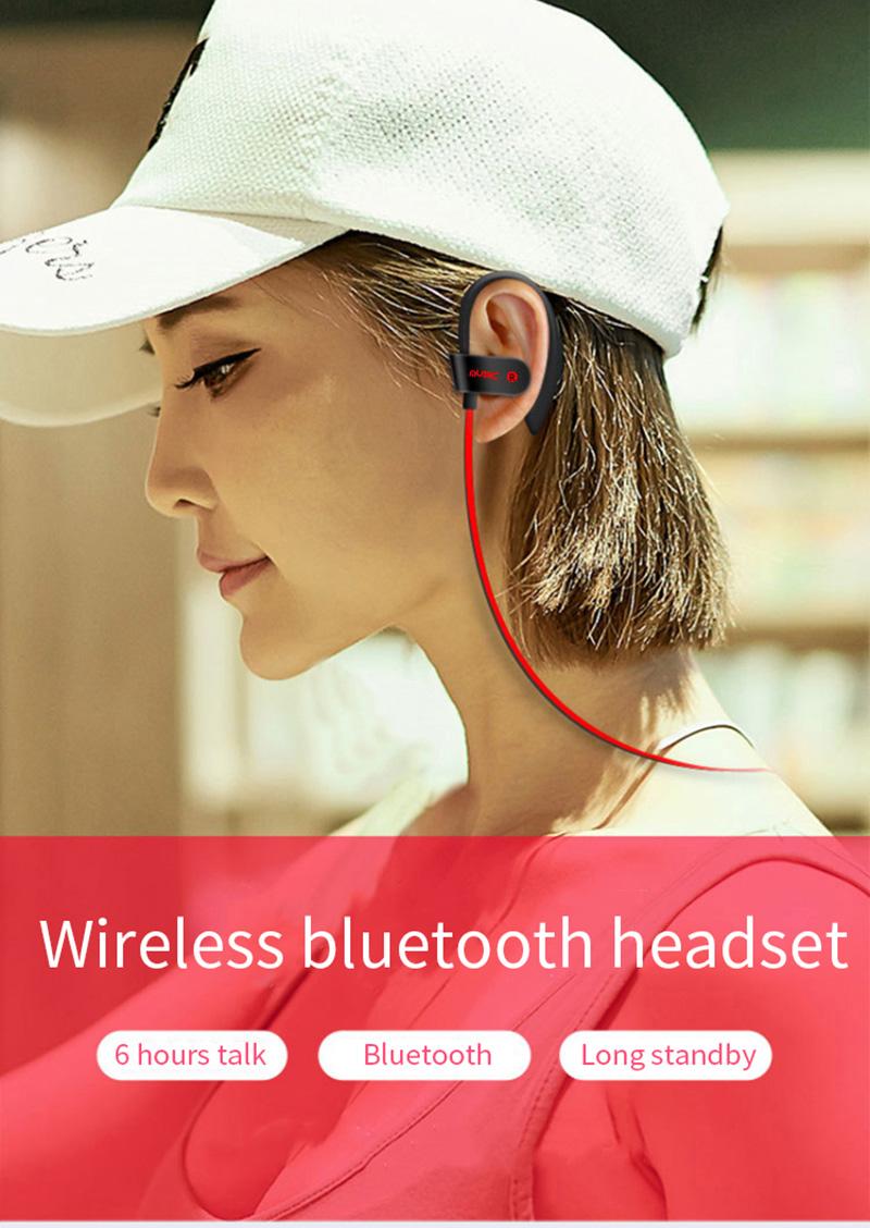 5.0 Mobile Accessory Headphone Wireless Cheap Bule Blu tooth Earbud Bl Bluth  Blueth ooth Wir less Bluetooth Sport Earphone