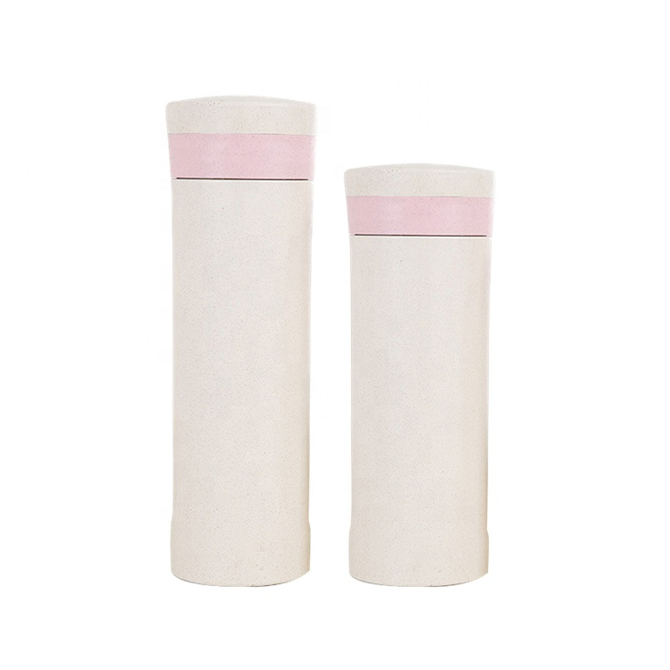 AFTCE086 Pink Coffee Cup Fruit Juice Reusable Rice Husk Plastic Cup