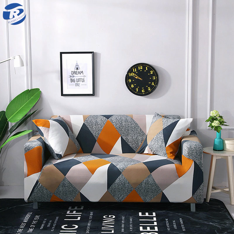 Colorful print sofa cover,sofa cover set for protecting,1 seat cover sofa ready to ship
