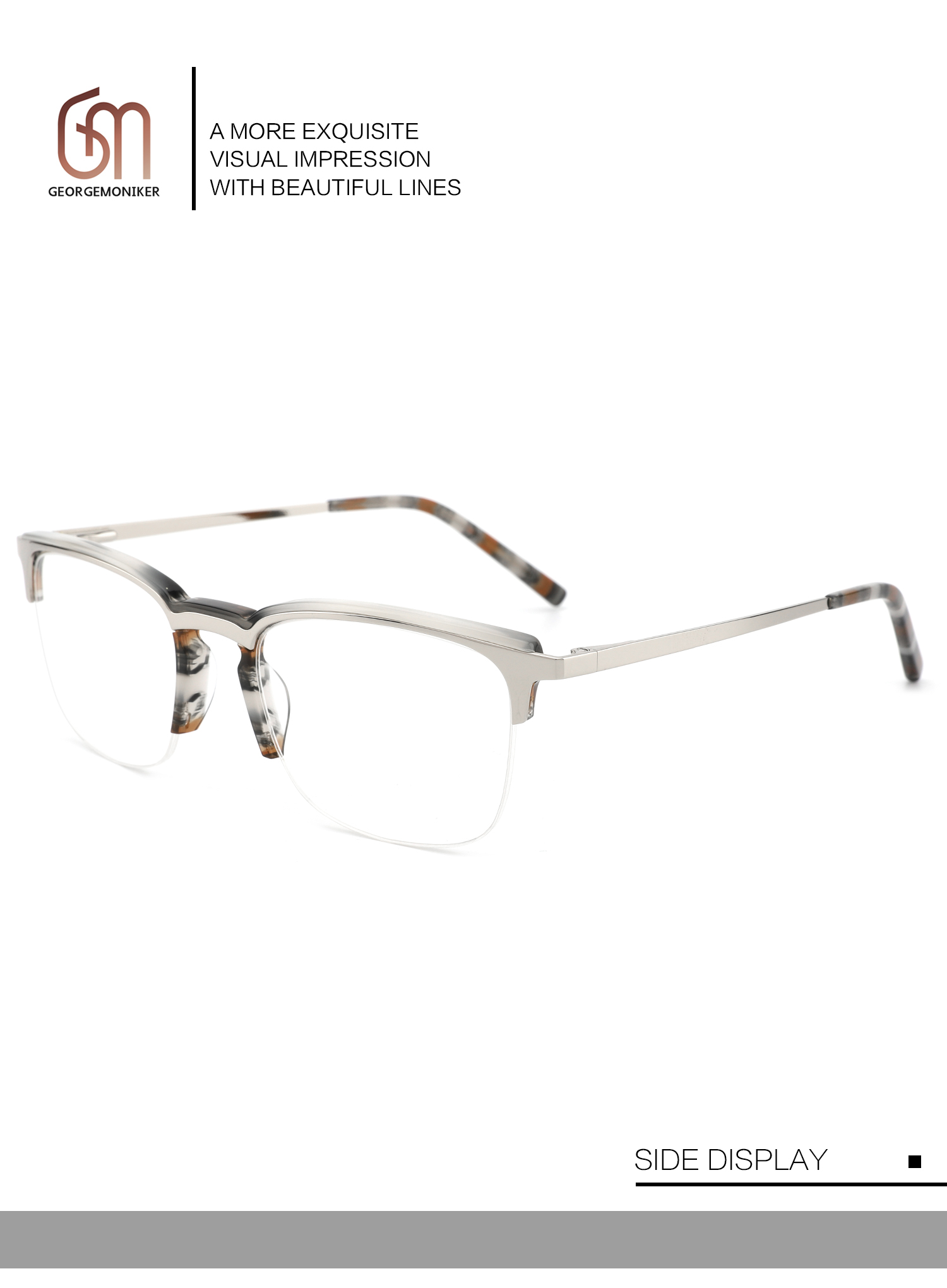 New square men's spectage eyeglasses with anti-blue glasses frame