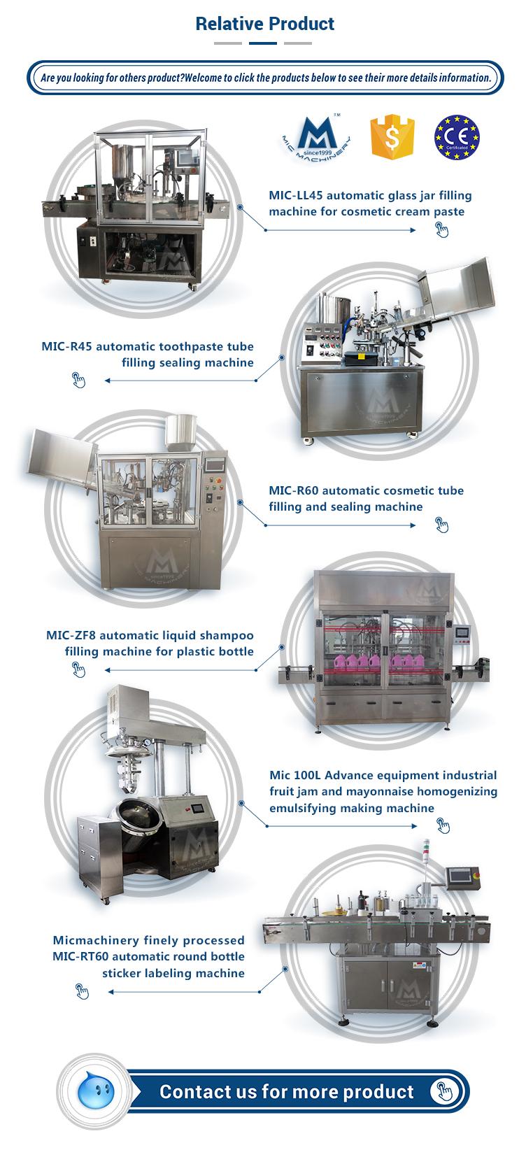 SGS verified semi automatic cosmetic paste plastic tube filling machine