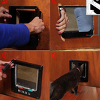 Pet Upgraded 2020 Cat Door Pet Door With 4-Way Rotary Lock For Cats M Size
