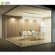 12mm thickness tempered glass aluminum frame demountable partition walls for office