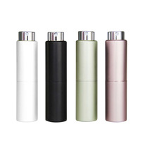 luxury refillable 8ml metal aluminum travel pocket portable twist up perfume pen atomizer spray pump bottle