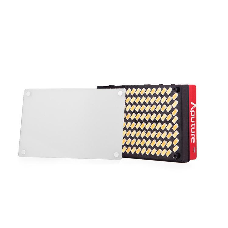 Aputure AL-MX Rechargeable Pocket Size 128 SMD LED Video Light Bi-color 2800K-6500K CRI TLCI 95+ On Camera Photography Lighting