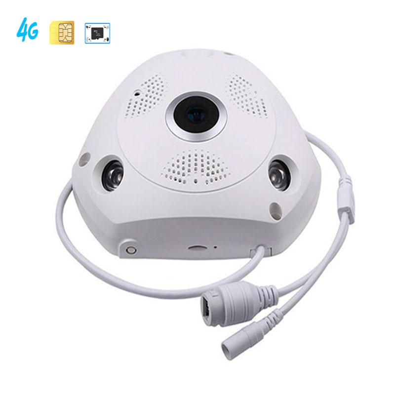 Ip-камера наблюдения панорамный вид рыбий глаз 3G 4G слот для SIM-карты 360 градусов