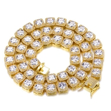 Mode Herren 10mm Hip Hop Bling Iced Out Gold Vollständig Diamant Platz CZ Tennis Kette <span class=keywords><strong>halskette</strong></span>