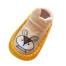 Детские Нескользящие Носки с рисунком животных для новорожденных мальчиков и девочек; тапочки; обувь для новорожденных; обувь для малышей(China)