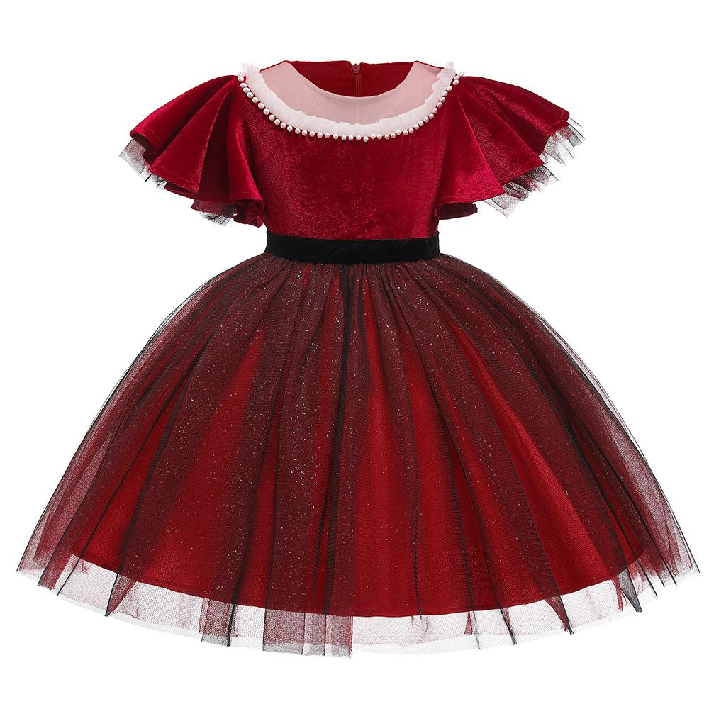 8_12year के लिए ईस्टर frilly दिलाना राजकुमारी शादी लड़की गेंद पोशाक
