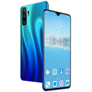 Free Shipping 6.3inch 4G Unlocked Smart Phones Dual Sim Face Recognition With Free Memory Card 128GB Smartphone Android P35 Plus