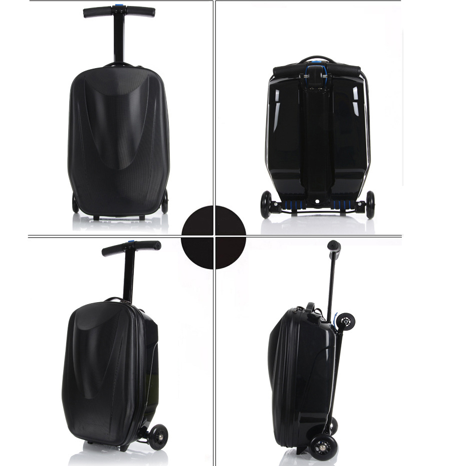 Popular Custom Design 3D Print Travel Trolley Children Scooter Luggage