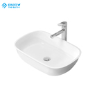 Factory Directly Solid surface white Above counter wash basin sink for Bathroom Hotel Wholesales
