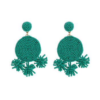 99566 Xuping New Arrival Style African Design Big Statement Drop Beaded Earrings For Ladies