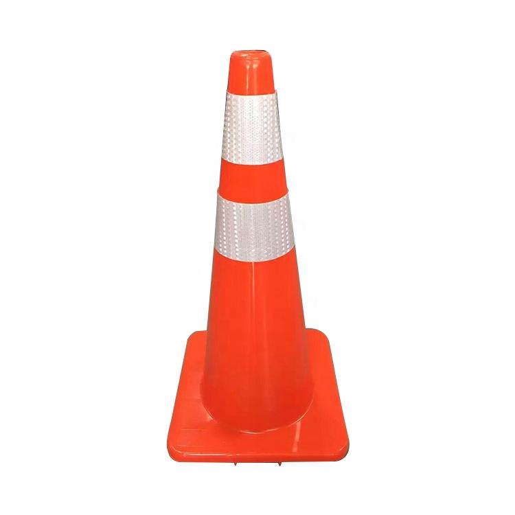 custom 30cm 50cm 70cm PVC rubber traffic cone with notice board