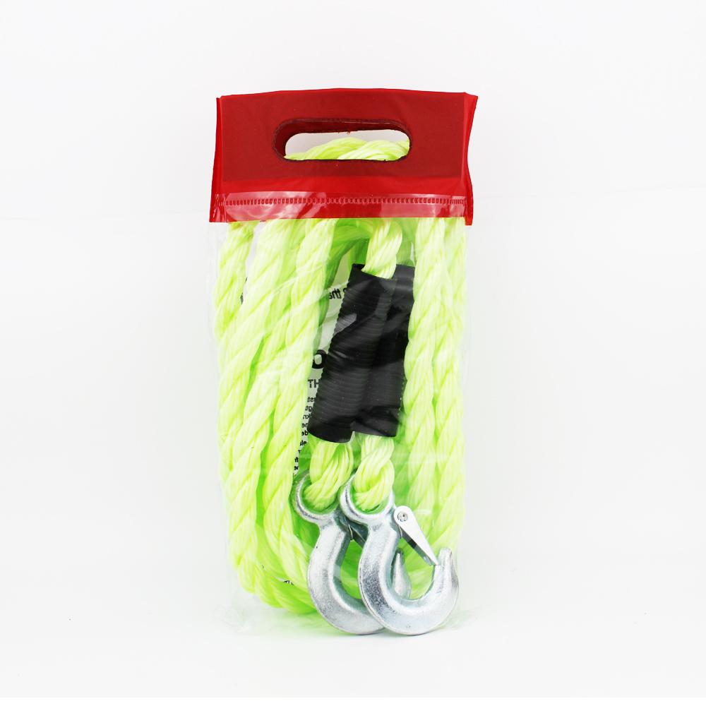 Новый продукт идеи 5T x 4M Длина нейлон Флуоресцентный цвет толстый буксировочный трос с двумя крючками