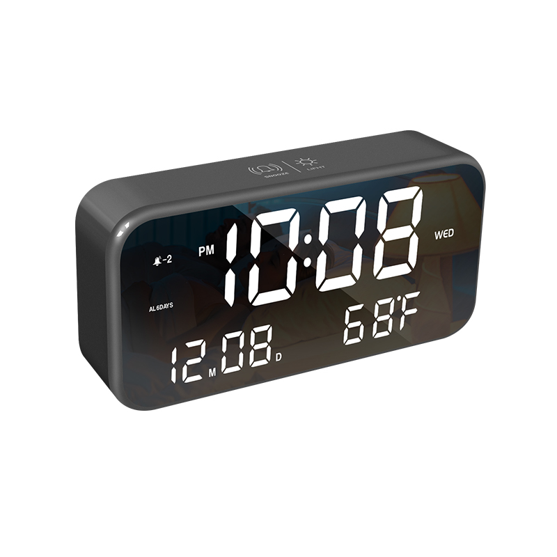 QHX-A6 led alarm clock creative rechargeable led digital clock table clock digital alarm clock
