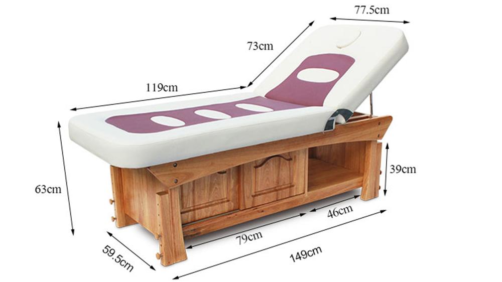 Günstige Preis Luxus Moderne Einstellbare Spa Schönheit Salon Kosmetische Wimpern Gesichts Behandlung Tabelle Feste Holz Thai Massage Bett