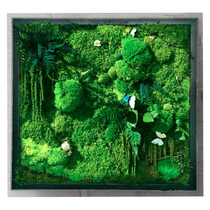 Uv Resistance Green Foliage Wall Outdoor Artificial Moss Grass
