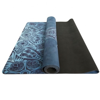 173x61cm double layer customized non slip 1mm microfiber printed eco travel yoga mat