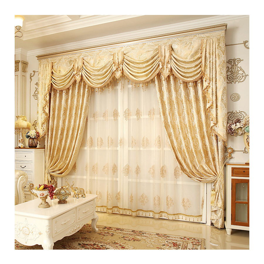 Hot Sale Window Luxury Living Room Jacquard Curtain With Valance,Online  Store Livingroom Curtain Cloth/ - Buy Livingroom Curtain Cloth,Luxury  Curtains ...