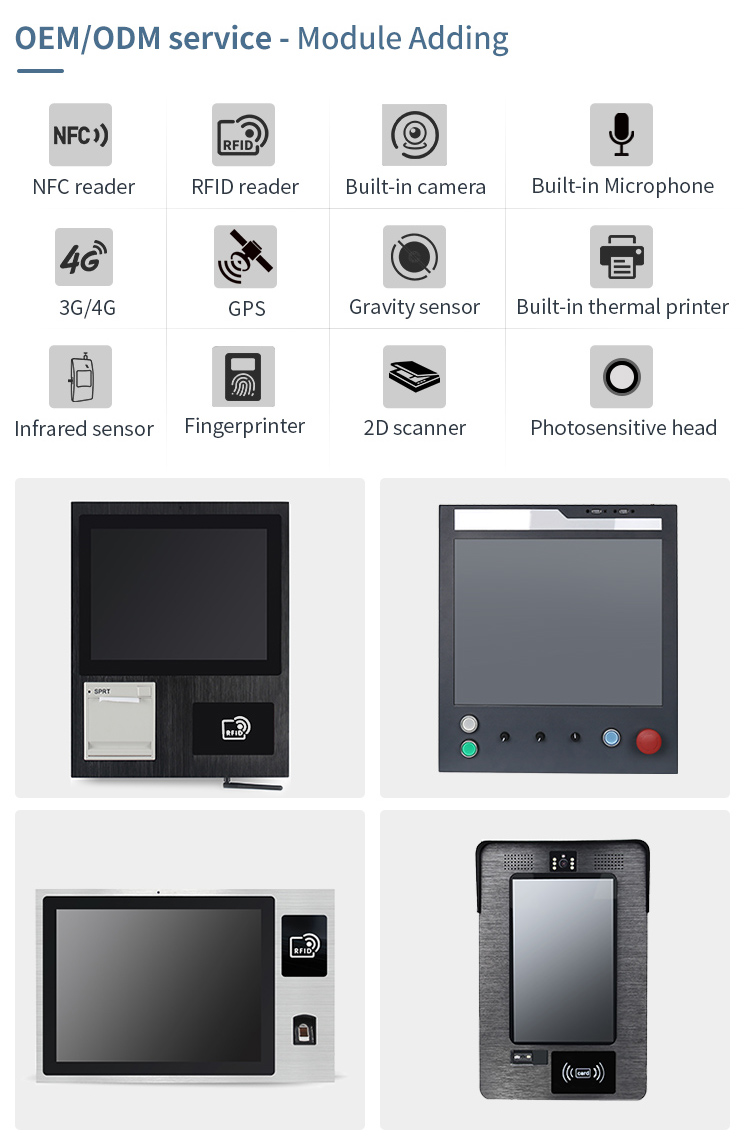 Aluminum VESA/Panel mount 10 inch industrial grade touch screen all in one pc