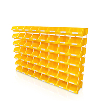 Factory OEM warehouse plastic organizer stackable screw storage box