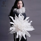 Graphic Customization Wedding Flowers AW121 Large White Artificial Paper Flower For Wedding Decoration Windows Display