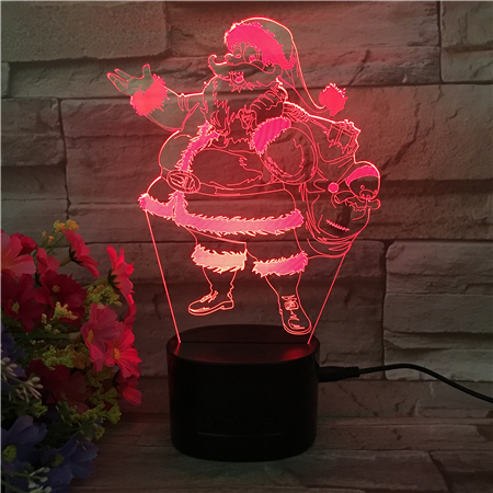 Newest Wireless Speakers Nightlight Santa Claus Design RGB Color Change Auto Stereo Subwoofer Potable Smart Touch Speakers